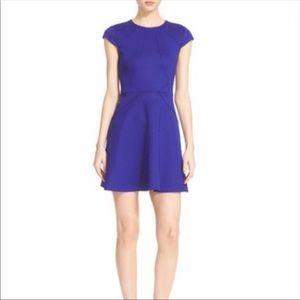 Ted Baker Cobalt Blue fit and flare dress 0